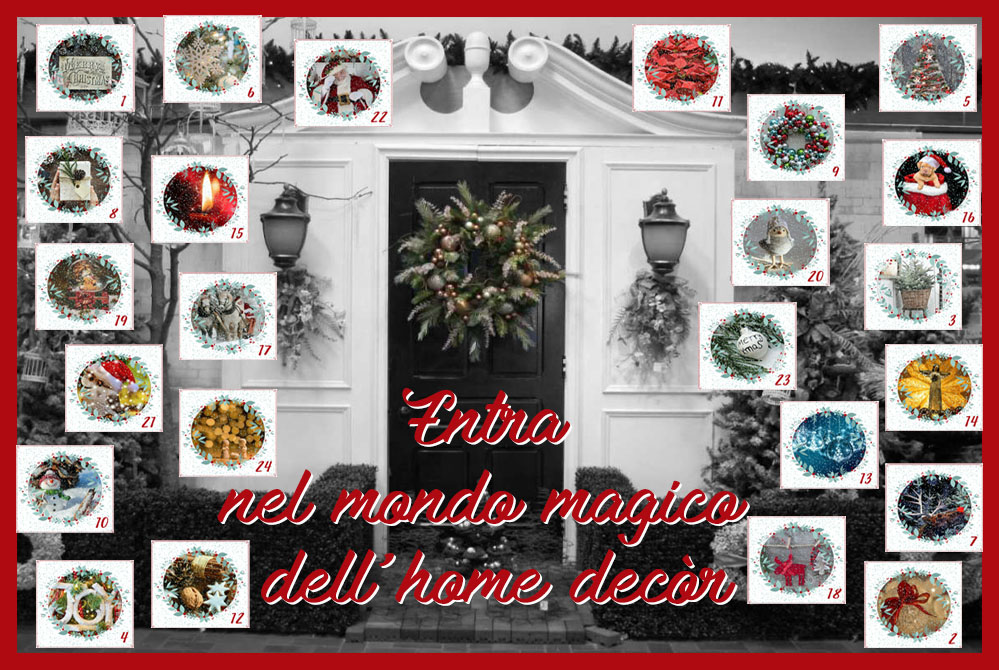Calendario dell'avvento dell'home decòr